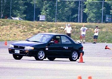 1999 Autocrossing the slushbox!