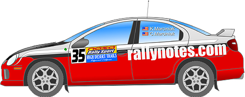 Rallynotes.com Rally Car Logo