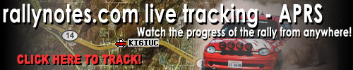 rallynotes.com Rally Car Tracking APRS