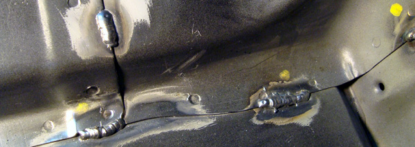 Seam or stitch welds.