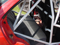 Roll cage installed