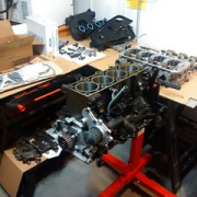"The clean engine assembly area setup #allmotor #mopar • <a style=""font-size:0.8em;"" href=""http://www.flickr.com/photos/75498260@N00/14865267942/"" target=""_blank"">View on Flickr</a>"