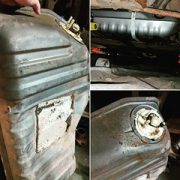 """Gas tank in the P-car was overdue to be replaced. No more leaks, and holds 10 undented gallons. 😁 • <a style=""""font-size:0.8em;"""" href=""""http://www.flickr.com/photos/75498260@N00/31213807781/"""" target=""""_blank"""">View on Flickr</a>"""