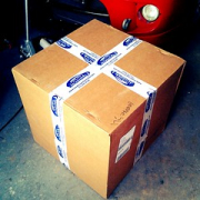 "An appropriately sized box from Modern Performance. :D #pistons #rallycar • <a style=""font-size:0.8em;"" href=""http://www.flickr.com/photos/75498260@N00/11258297515/"" target=""_blank"">View on Flickr</a>"
